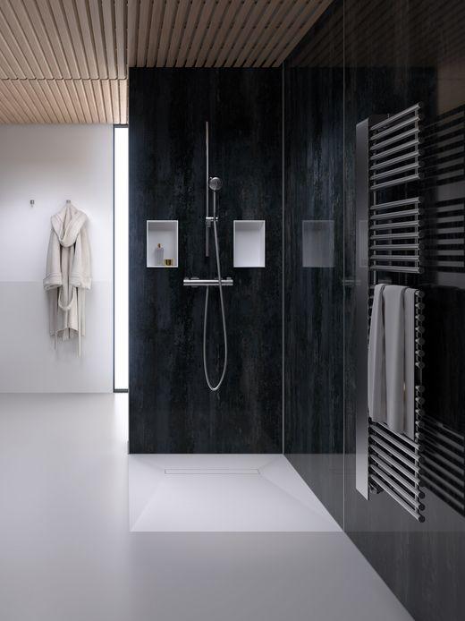 Badinnovationen zum individuellen badezimmer auf splash bad schedel plan plus - Duschwand fugenlos ...