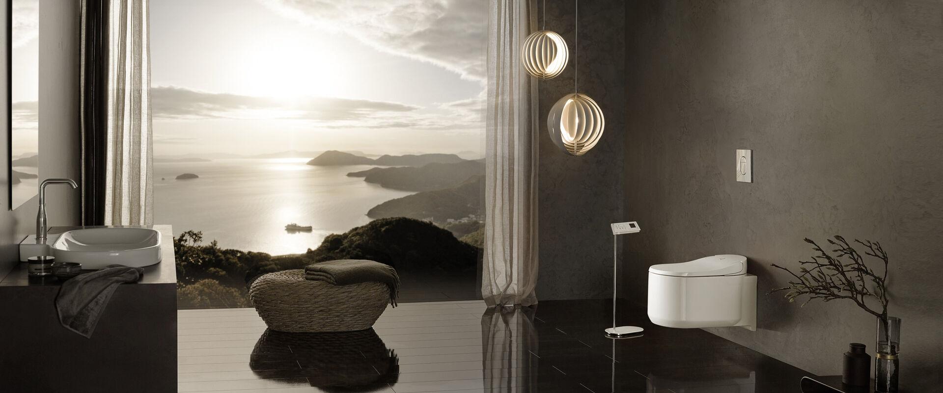 grohe sensia arena das pr mierte dusch wc mit smarten details. Black Bedroom Furniture Sets. Home Design Ideas