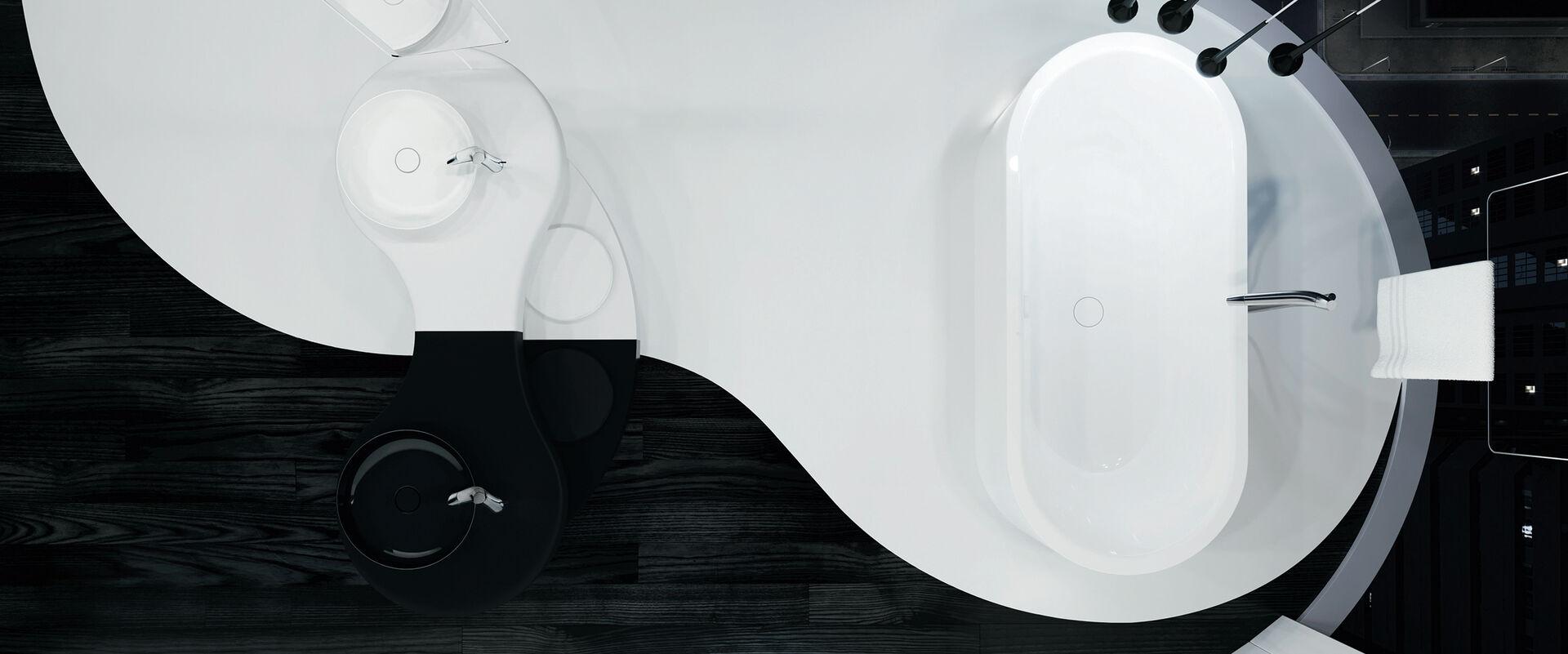 Kaldewei miena filigranes design vielf ltig einsetzbar for Kaldewei waschbecken