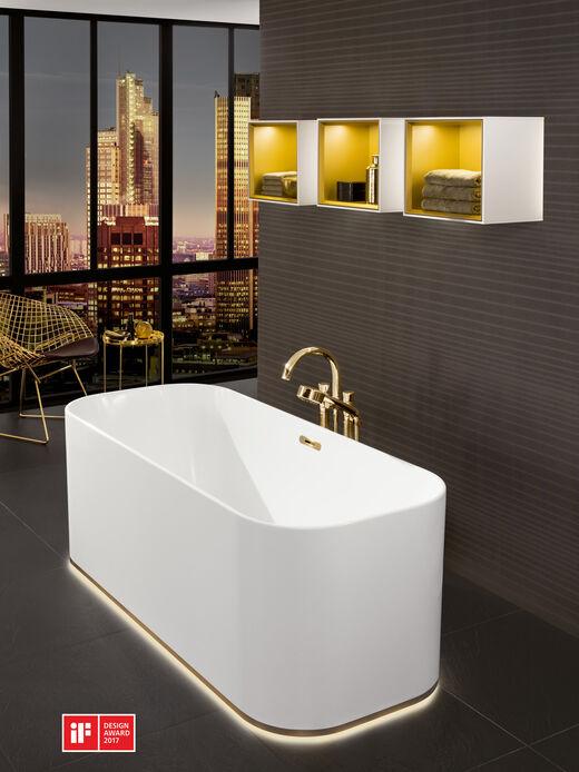 freistehende badewanne villeroy boch finion. Black Bedroom Furniture Sets. Home Design Ideas
