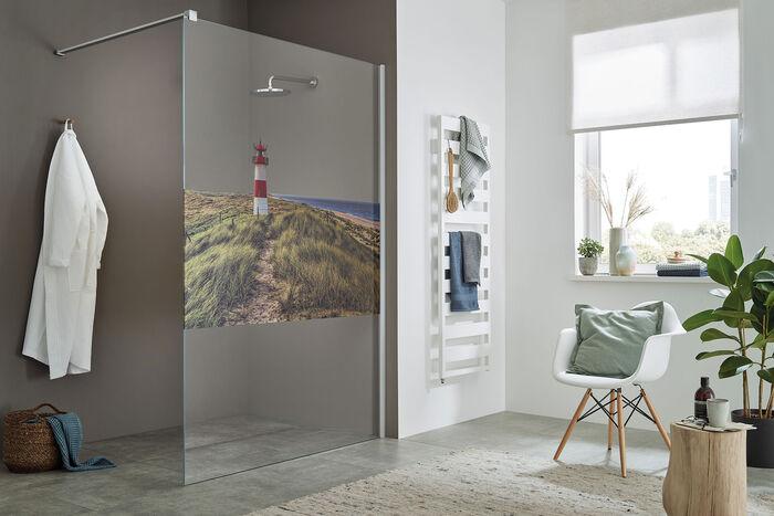 Walk-in Dusche Sprinz ColorStar: Exlusiver Sichtschutz