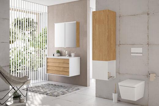 VitrA Frame: Charmante Badmöbel mit moderner Wohnlichkeit