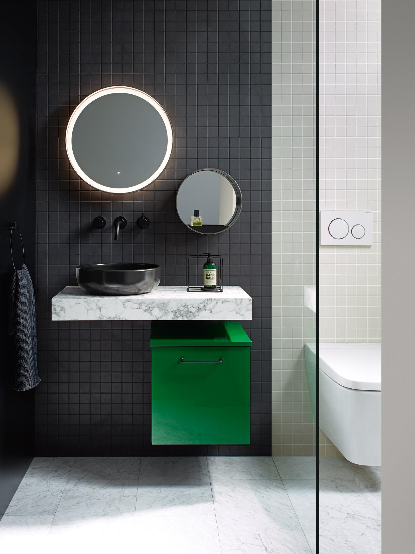 burgbad hat sein markenprogramm sys30 um neue und teils knallige farben erg nzt f r mehr. Black Bedroom Furniture Sets. Home Design Ideas