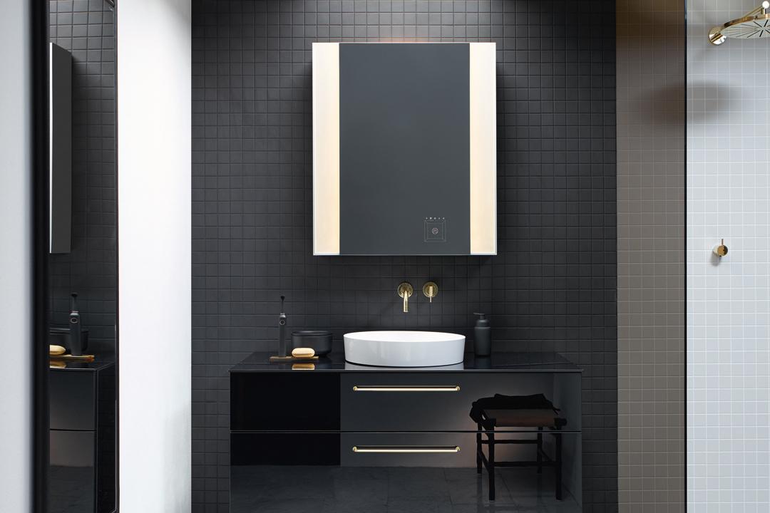 flacher spiegelschrank badezimmer