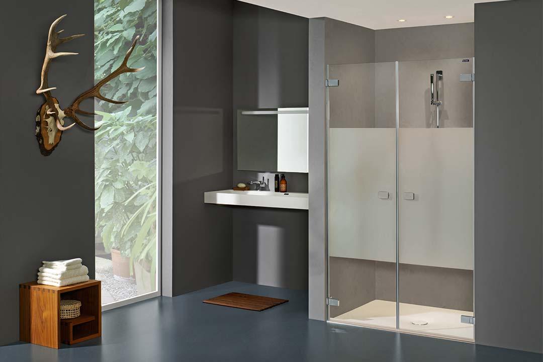 Duscholux Collection 3: Rahmenlose Duschwand für ein offenes Bad